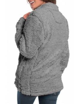1/4 Zip Pullover Fleece Sweatshirt Gray